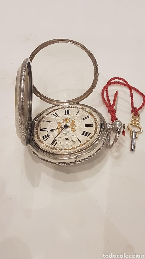 Relojes de bolsillo: RELOJ DE BOLSILLO DE PLATA PAUL BERTOL FLEURIER CON 3 TAPAS ESCAPE ANCORA 15 RUBIS FINALES SIGLO XIX - Foto 6 - 288578293