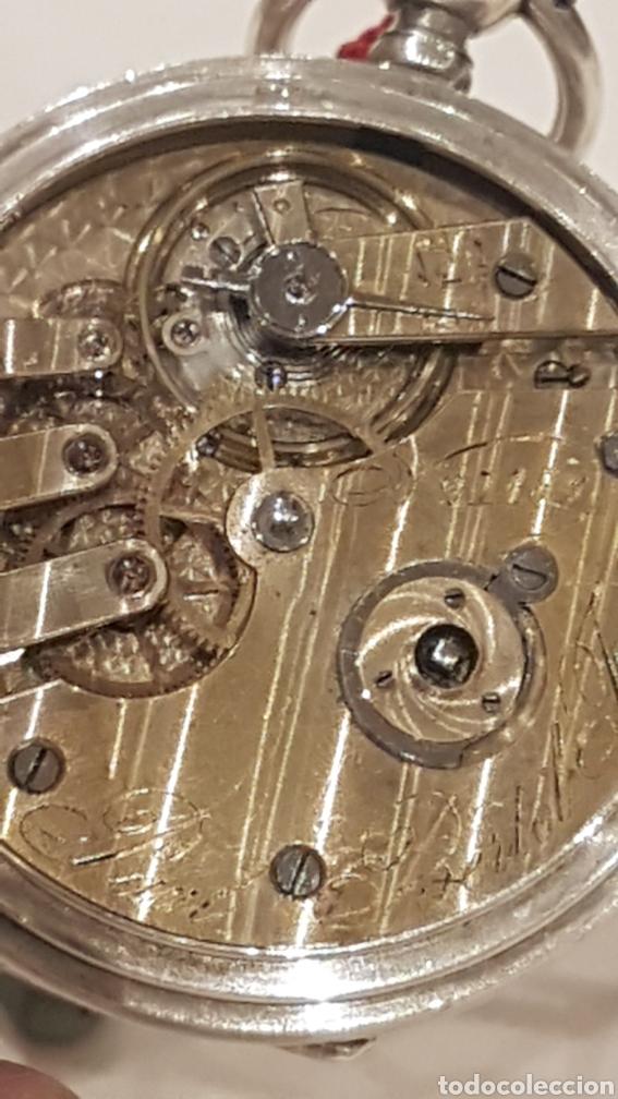 Relojes de bolsillo: RELOJ DE BOLSILLO DE PLATA PAUL BERTOL FLEURIER CON 3 TAPAS ESCAPE ANCORA 15 RUBIS FINALES SIGLO XIX - Foto 7 - 288578293