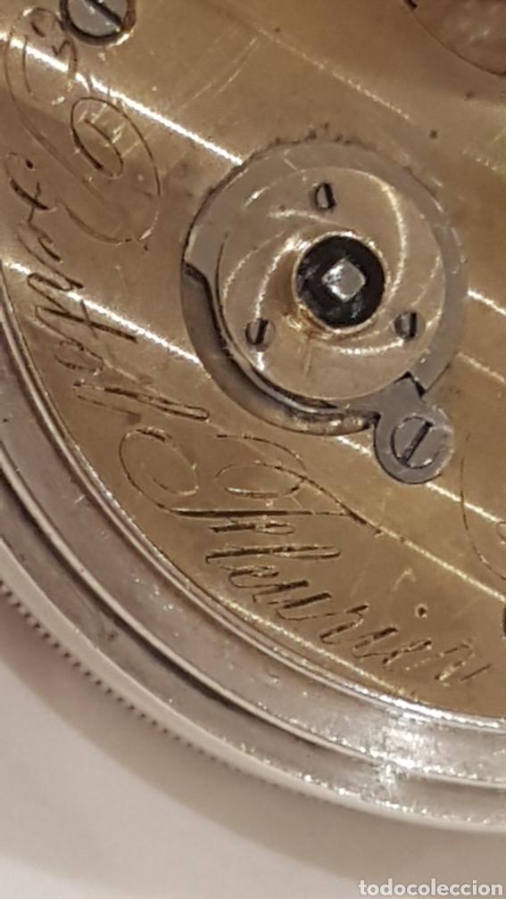 Relojes de bolsillo: RELOJ DE BOLSILLO DE PLATA PAUL BERTOL FLEURIER CON 3 TAPAS ESCAPE ANCORA 15 RUBIS FINALES SIGLO XIX - Foto 9 - 288578293