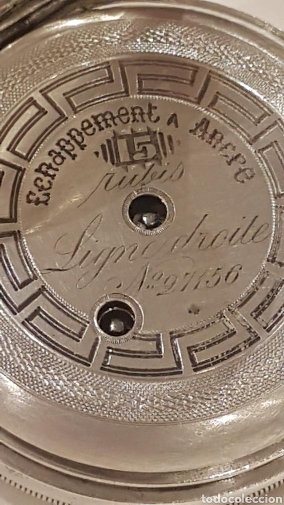 Relojes de bolsillo: RELOJ DE BOLSILLO DE PLATA PAUL BERTOL FLEURIER CON 3 TAPAS ESCAPE ANCORA 15 RUBIS FINALES SIGLO XIX - Foto 11 - 288578293
