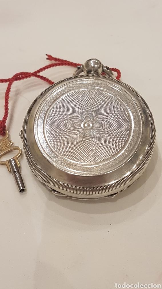 Relojes de bolsillo: RELOJ DE BOLSILLO DE PLATA PAUL BERTOL FLEURIER CON 3 TAPAS ESCAPE ANCORA 15 RUBIS FINALES SIGLO XIX - Foto 14 - 288578293