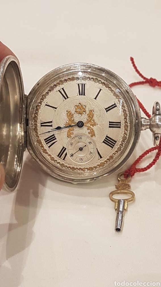 Relojes de bolsillo: RELOJ DE BOLSILLO DE PLATA PAUL BERTOL FLEURIER CON 3 TAPAS ESCAPE ANCORA 15 RUBIS FINALES SIGLO XIX - Foto 15 - 288578293