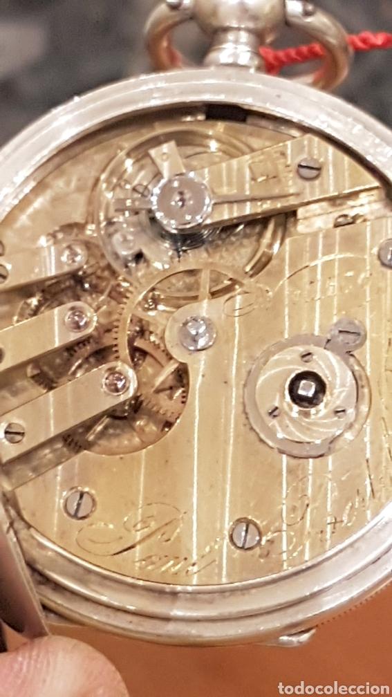 Relojes de bolsillo: RELOJ DE BOLSILLO DE PLATA PAUL BERTOL FLEURIER CON 3 TAPAS ESCAPE ANCORA 15 RUBIS FINALES SIGLO XIX - Foto 16 - 288578293