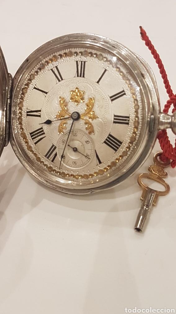 Relojes de bolsillo: RELOJ DE BOLSILLO DE PLATA PAUL BERTOL FLEURIER CON 3 TAPAS ESCAPE ANCORA 15 RUBIS FINALES SIGLO XIX - Foto 4 - 288578293