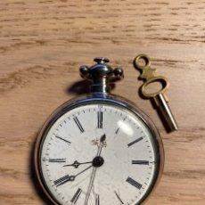 Relojes de bolsillo: RELOJ BOLSILLO PLATA MERCADO CHINO DUPLEX QING DYNASTY. Lote 289504583