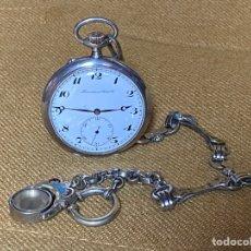 Relojes de bolsillo: INTERNATIONAL WATCH RELOJ BOLSILLO PLATA CHATELE PLATA. Lote 289538708