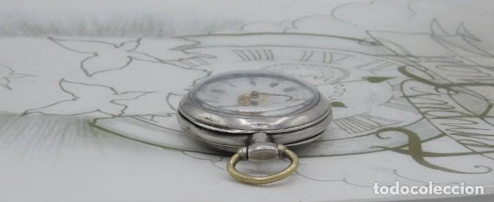Relojes de bolsillo: DE PLATA- BONITO RELOJ DE BOLSILLO-3 TAPAS-CIRCA 1850-1870-FUNCIONANDO - Foto 13 - 289687598