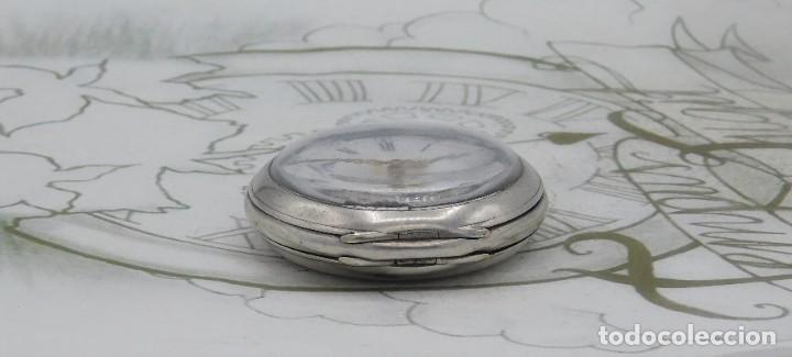 Relojes de bolsillo: DE PLATA- BONITO RELOJ DE BOLSILLO-3 TAPAS-CIRCA 1850-1870-FUNCIONANDO - Foto 14 - 289687598