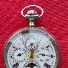 Relojes de bolsillo: RELOJ DE BOLSILLO GRAN COMPLICACIÓN. CALENDARIO Y FASES LUNARES. FUNCIONANDO. Lote 290295268