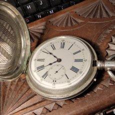 Orologi da taschino: RELOJ DE BOLSILLO DE PLATA. FUNCIONANDO. 70 MM DE DIÁMETRO.. Lote 290581978