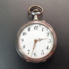 Relojes de bolsillo: RELOJ DE BOLSILLO DE PLATA DE 800 MILÉSIMAS. Lote 292203043