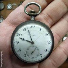 Relojes de bolsillo: RELOJ DE BOLSILLO PLATA 0.800 - MARCA LONGINES 7 GRAND PRIX - NO FUNCIONA -. Lote 292272053