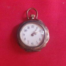 Relógios de bolso: RELOJ DE BOLSILLO CYLINDRE 10 RUBIS CAJA DE PLATA FUNCIONA . .MIDE 27 MM DIAMETRO. Lote 293246663