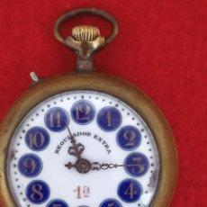 Relojes de bolsillo: ANTIGUO RELOJ DE BOLSILLO ESFERA DE PORCELANA, FUNCIONANDO. Lote 293636533