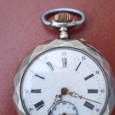 Relojes de bolsillo: ANTIGUO RELOJ DE BOLSILLO DE PLATA, FUNCIONANDO. Lote 293641953