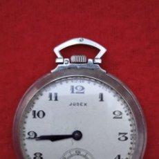 Relojes de bolsillo: RELOJ DE BOLSILLO JUDEX, FUNCIONANDO, DE PLATA. Lote 293647233