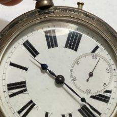 Relojes de bolsillo: RELOJ DE BOLSILLOGOLIAT ANCRE LIGNE DROITE REMONTOIR - PLATA - FUNCIONA PERFECTAMENTE 15 RUBIS. Lote 295048638