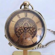 Relojes de bolsillo: RELOJ DE BOLSILLO ANTIGUO CILINDRO ESFERA LABARADA. Lote 295484263