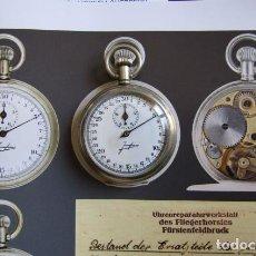 Relojes de bolsillo: CRONOMETRO MILITAR MARINA ALEMANA II SEGUNDA GUERRA MUNDIAL III REICH USADO POR LA KRIEGSMARINE. Lote 295505083