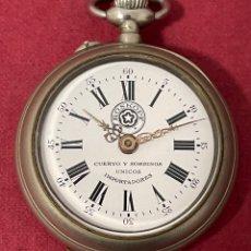 Relógios de bolso: ANTIGUO RELOJ DE BOLSILLO, ROSKOPF, DE CUERVO Y SOBRINOS, UNICOS IMPORTADORES. FUNCIONANDO. Lote 295840498