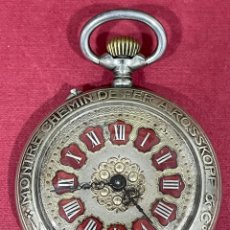 Relojes de bolsillo: FANTÁSTICO RELOJ DE BOLSILLO ROSSKOPF PATENT. VERITABLE MONTRE CHEMIN DE FER. FUNCIONANDO. Lote 295853213