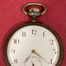 Relojes de bolsillo: ANTIGUO RELOJ DE BOLSILLO, EN METAL PAVONADO. GRAND PRIX PARIS 1900. Lote 295854168