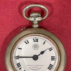 Relojes de bolsillo: ANTIGUO RELOJ DE BOLSILLO, ROSKOPF, CUERVO Y SOBRINOS IMPORTADORES. FUNCIONANDO. Lote 295855213