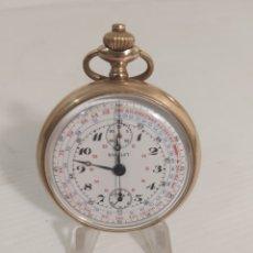 Relojes de bolsillo: CRONOCRAFO DE BOLSILLO GUILLET. Lote 296780723