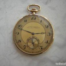 Relojes de bolsillo: RELOJ DE BOLSILLO 'IWC' INTERNATIONAL WATCH Cº DE ORO 18 KT (KILATES) AÑO 1905-1910. Lote 296781068