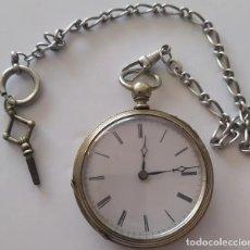 Relojes de bolsillo: RELOGIO DE BOLSO PRATA DE CHAVE. Lote 296953533