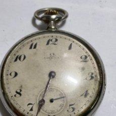 Relojes de bolsillo: RELÓJ OMEGA DE BOLSILLO AÑOS 1900 METALICO EN FUNCIONAMIENTO. Lote 296963568