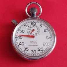 Relojes de bolsillo: RELOJ DE BOLSILLO CHRONOMETRO GAMA 7 JEWELS SHOCK RESISTANT FUNCIONA .MIDE51.6 MM DIAMETRO. Lote 297043138