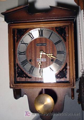 RELOJ DE PARED 30 DIAS CUERDA (Relojes - Pared Carga Manual)