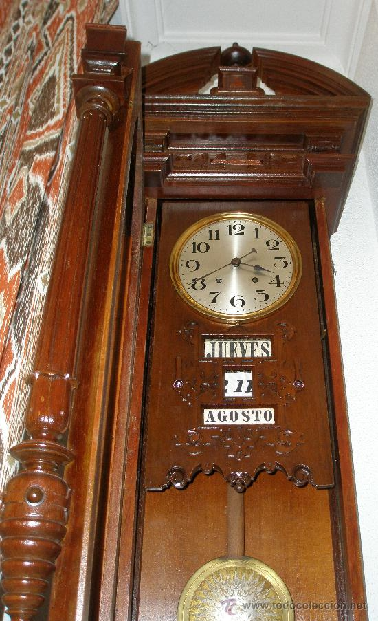 Raro original antiguo reloj pared calendiario comprar - Reloj pared original ...