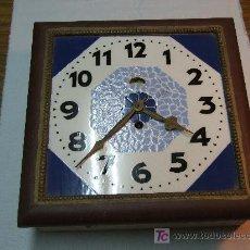 Relojes de pared: RELOJ PARED ART DECO ESFERA DE CERAMICA. Lote 26441622