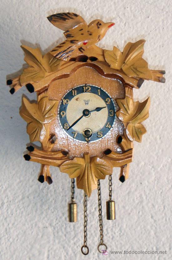 RELOJ DE CUCO PEQUEÑO (Relojes - Pared Carga Manual)