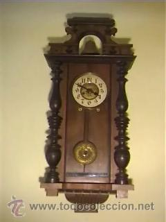 RELOJ DE PARED ANTIGUO FINALES XIX PRINCIPIOS XX (Relojes - Pared Carga Manual)