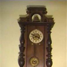 Relojes de pared: RELOJ DE PARED ANTIGUO FINALES XIX PRINCIPIOS XX . Lote 26743057