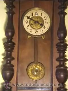 Relojes de pared: RELOJ DE PARED ANTIGUO FINALES XIX PRINCIPIOS XX - Foto 2 - 26743057