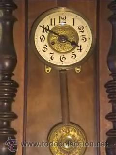 Relojes de pared: RELOJ DE PARED ANTIGUO FINALES XIX PRINCIPIOS XX - Foto 3 - 26743057