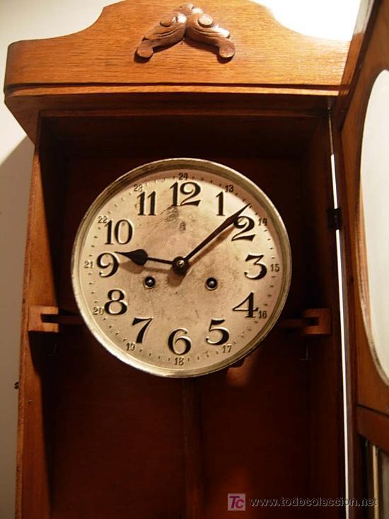Relojes de pared: LIQUIDACION RELOJ DE PARED MODERNISTA CON CAJA DE ROBLE. ADMITO OFERTAS - Foto 7 - 171362437