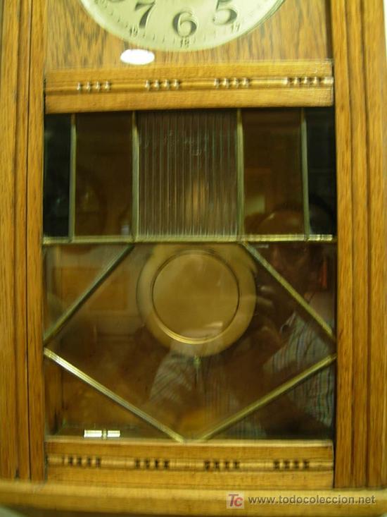 Relojes de pared: LIQUIDACION RELOJ DE PARED MODERNISTA CON CAJA DE ROBLE. ADMITO OFERTAS - Foto 10 - 171362437