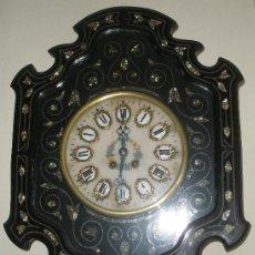 Relojes de pared: PRECIOSO IMPECABLE RELOJ OJO BUEY PARIS - ESFERA ALABASTRO CAJA MUY DECORADA NACAR -. Lote 24648535