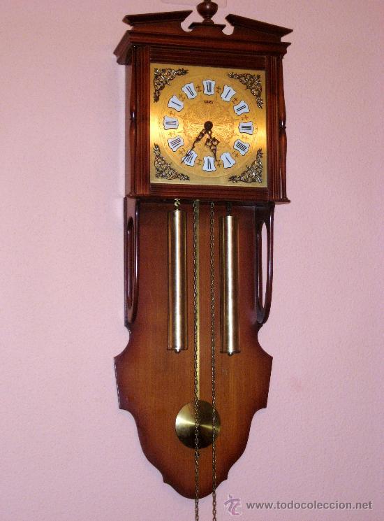 Hermosisimo reloj de pared sars de pesas y pen comprar for Relojes de pared antiguos precios