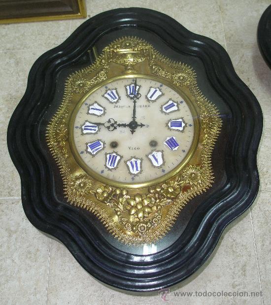 EXCEPCIONAL RELOJ MOREZ - JOAQUIN AGUIAR - VIGO - VER FOTOS. (Relojes - Pared Carga Manual)