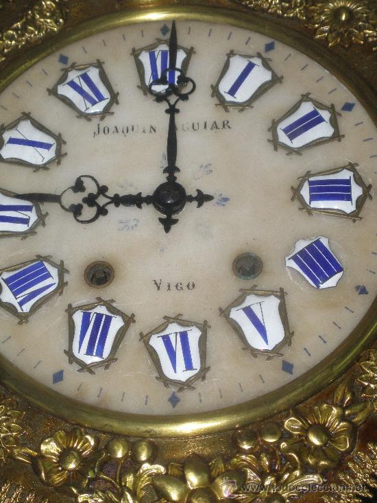 Relojes de pared: EXCEPCIONAL RELOJ MOREZ - JOAQUIN AGUIAR - VIGO - VER FOTOS. - Foto 2 - 24558266