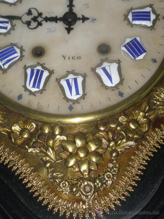 Relojes de pared: EXCEPCIONAL RELOJ MOREZ - JOAQUIN AGUIAR - VIGO - VER FOTOS. - Foto 3 - 24558266