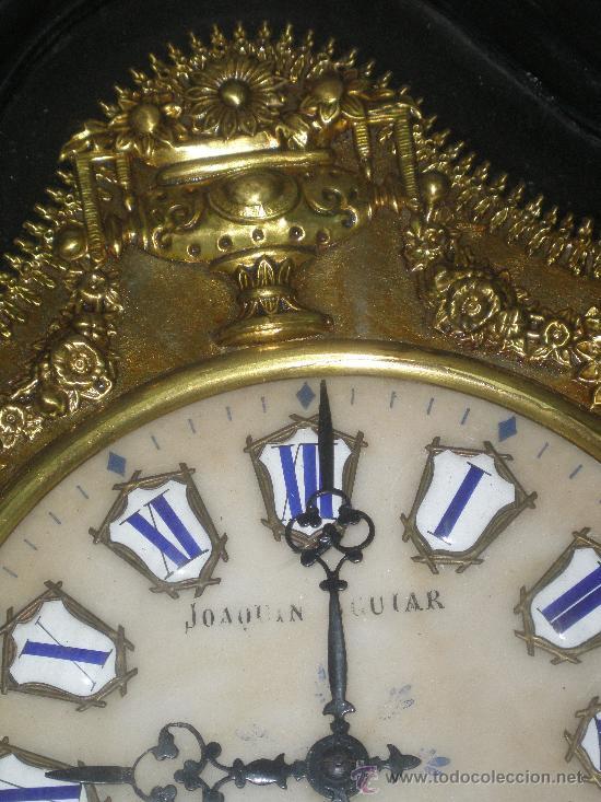 Relojes de pared: EXCEPCIONAL RELOJ MOREZ - JOAQUIN AGUIAR - VIGO - VER FOTOS. - Foto 4 - 24558266