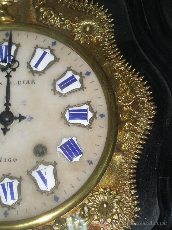Relojes de pared: EXCEPCIONAL RELOJ MOREZ - JOAQUIN AGUIAR - VIGO - VER FOTOS. - Foto 5 - 24558266