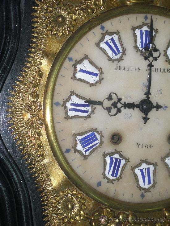 Relojes de pared: EXCEPCIONAL RELOJ MOREZ - JOAQUIN AGUIAR - VIGO - VER FOTOS. - Foto 6 - 24558266